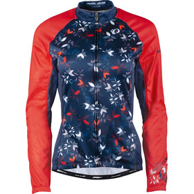 PEARL iZUMi Elite LTD Thermal LS Jersey Women, winterflower navy/screaming red